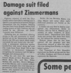 Damage suit filed against Zimmermans